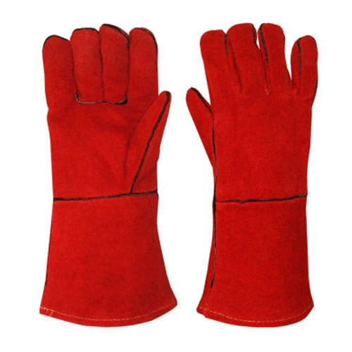red Leather Welding Gloves